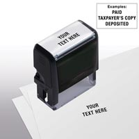 Design Your Own Stock Stamp, Medium - Self-Inking