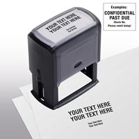 Design Your Own Stock Stamp, Large - Self-Inking