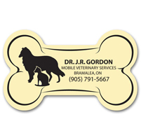 Promotional Magnets - Dog Bone Shaped