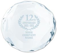 Awards & Trophies, Faceted paperweight