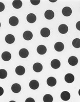 Tissue Paper, Black Dots on White Tissue Paper, 20 x 30