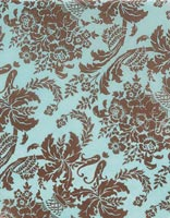 Tissue Paper, Brown Aqua Damask Tissue Paper, 20 x 30