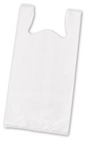 White Unprinted T-Shirt Bags, 11 1/2 x 7 x 23