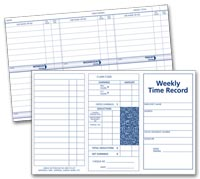 Weekly Employee Time Record Cards - 220