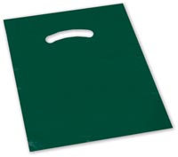 Bags, Dark Green Die-Cut Handle Bag, 20 x 20