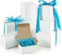 Boxes, White One-Piece Gift Box Assortment, Various Sizes