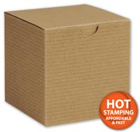 Boxes, Kraft One-Piece Gift Boxes, 5 x 5 x 3