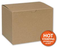 Boxes, Kraft One-Piece Gift Boxes, 6 x 4 1/2 x 4 1/2
