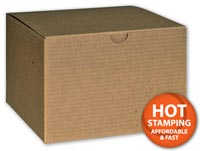 Boxes, Kraft One-Piece Gift Boxes, 6 x 6 x 4