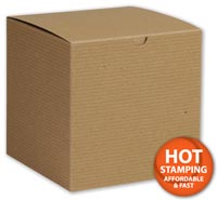 Boxes, Kraft One-Piece Gift Boxes, 6 x 6 x 6