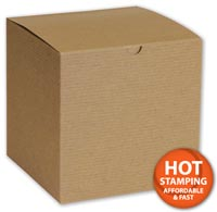 Boxes, Kraft One-Piece Gift Boxes, 7 x 7 x 7