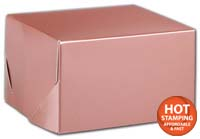 Boxes, Rose Gold Tinted Boxes, 5 x 5 x 3
