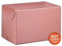 Boxes, Rose Gold Tinted Boxes, 6 x 4 x 4