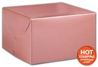 Boxes, Rose Gold Tinted Boxes, 6 1/2 x 6 1/2 x 4