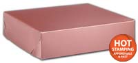 Boxes, Rose Gold Tinted Boxes, 8 x 8 x 2