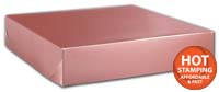 Boxes, Rose Gold Tinted Boxes, 12 x 12 x 2 1/2