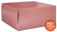 Boxes, Rose Gold Tinted Boxes, 12 x 12 x 5 1/2
