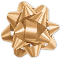 Gift Bows, Gold Splendorette Star Bows, 14 Loops, 2 3/4