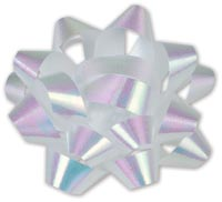 Gift Bows, Iridescent Jeweler's Size Star Bow, 16 Loops, 1 1/4