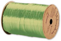 "Ribbon, Pearlized Wraphia Chartreuse Ribbon, 1/4"" x 100 Yds"