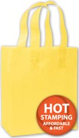 Bags, Yellow Frosted High Density Shoppers, 8 x 4 x 10