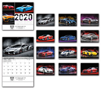 2020 Exotic Sports Car Calendar - Bilingual