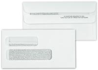 Cheque Envelopes, Double Window Confidential Self Seal Envelope