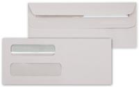 Cheque Envelopes, Double Window Self-Seal Envelope