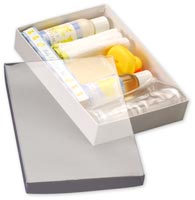 Boxes, Clear Top Boxes w/ White Base, 9 5/8 x 6 3/8 x 1 5/8