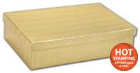Boxes, Gold Foil Embossed Jewellery Boxes, 8 x 5 1/2 x 2