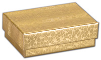 Boxes, Gold Foil Embossed Jewellery Boxes, 1 5/8 x 1 5/8 x 1 1/4