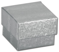 Boxes, Silver Foil Embossed Jewellery Boxes, 1 5/8 x 1 5/8 x 1 1/4