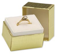 Boxes, Gold Linen Jewellery Boxes, 1 1/2 x 1 1/4 x 1 1/2