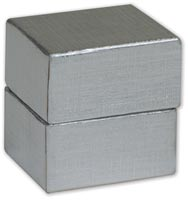 Boxes, Silver Linen Jewellery Boxes, 1 1/2 x 1 1/4 x 1 1/2