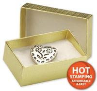 Boxes, Gold Linen Jewellery Boxes, 2 1/2 x 1 1/2 x 7/8