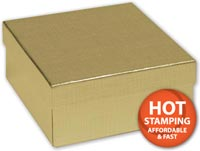 Boxes, Gold Linen Jewellery Boxes, 3 1/2 x 3 1/2 x 1 1/2