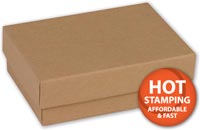 Boxes, Natural Kraft Jewellery Boxes, 3 1/16 x 2 1/8 x 1