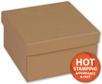 Boxes, Natural Kraft Jewellery Boxes, 3 1/2 x 3 1/2 x 2