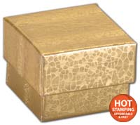 "Gold Foil Embossed Jewellery Boxes, 2 x 1 1/2 x 5/8""-52GLD"