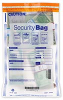 "10 x 15"" Single Pocket Deposit Bag, Clear-53853C"