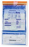"9 1/2x15"" Dual Pocket Deposit Bag, Clear Front, Opaque Back-53858C"