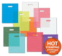 Bags, Coloured Frosted High Density Merchandise Bags, 9 x 12