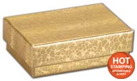 Boxes, Gold Foil Embossed Jewellery Boxes, 2 7/16 x 1 5/8 x 13/16