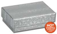 Boxes, Silver Foil Embossed Jewellery Boxes, 2 7/16x1 5/8x13/16