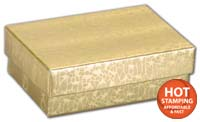 Boxes, Gold Foil Embossed Jewellery Boxes, 3 x 2 1/8 x 1