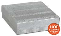 Boxes, Silver Foil Embossed Jewellery Boxes, 3 x 2 1/8 x 1
