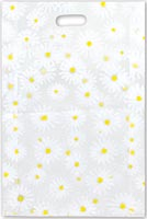 Bags, Daisy Frosted High Density Merchandise Bags, 14x3x21