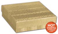 Boxes, Gold Foil Embossed Jewellery Boxes, 3 1/2 x 3 1/2 x 7/8