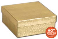 Boxes, Gold Foil Embossed Jewellery Boxes, 3 1/2 x 3 1/2 x 1 1/2