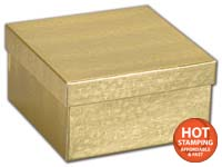 Boxes, Gold Foil Embossed Jewellery Boxes, 3 1/2 x 3 1/2 x 1 7/8
